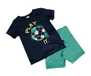 On day and night wear of the kids football line.