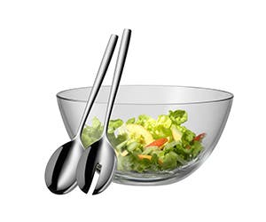 Salad set including salad server